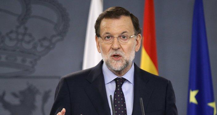 Mariano Rajoy en una rueda de prensa junto a su homóloga polaca, Ewa Kopacz