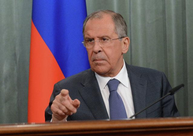 Ministro de Exteriores de Rusia, Serguéi Lavrov