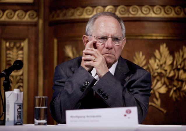 Wolfgang Schäuble, ministro de Finanzas de Alemania
