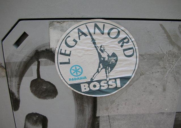 Logo de partido italiano la Liga Norte