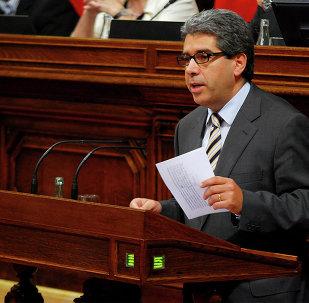 Francesc Homs en el Ple del Parlament