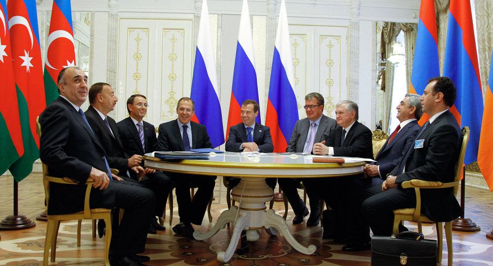 Reunión de presidentes de Rusia, Armenia y Azerbaiyán sobre el arreglo en Alto Karabaj