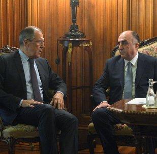 Reunión entre los jefes de Ministerios de Exteriores de Rusia y Azerbaiyán, Serguéi Lavrov y Elmar Mamediarov
