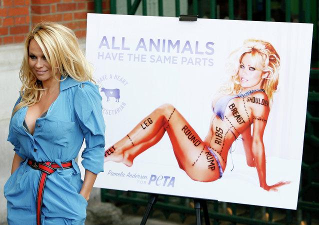 Actriz estadounidense Pamela Anderson