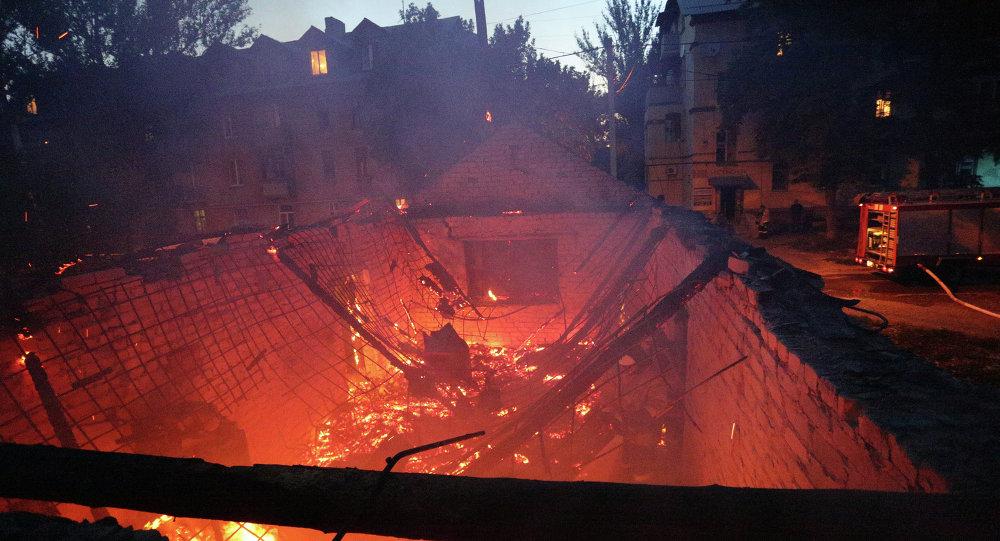 Situación en Donetsk después de los bombardeos