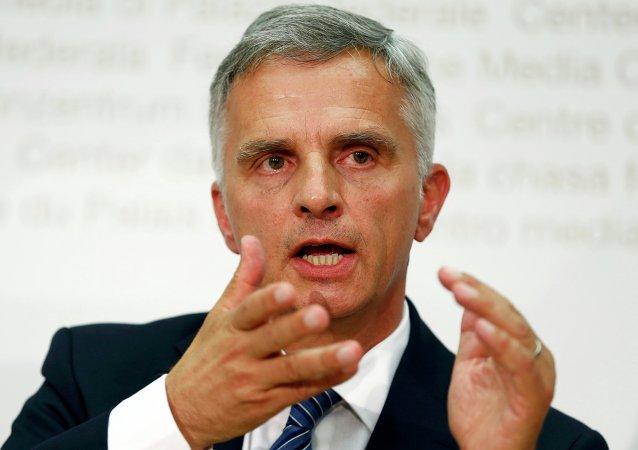 Didier Burkhalter, ministro de Asuntos Exteriores de Suiza