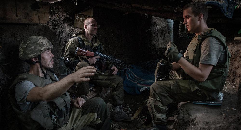 Milicianos en la región de Donetsk