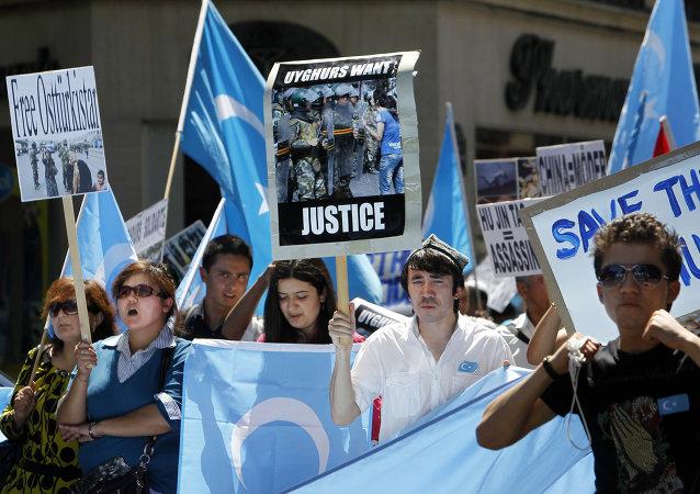 Manifestación de los uigures en Francia (Archivo)