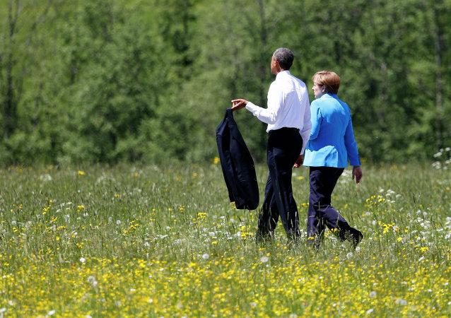 Barack Obama, presidente de EEUU, y Angela Merkel, canciller de Alemania, el 7 de junio, 2015