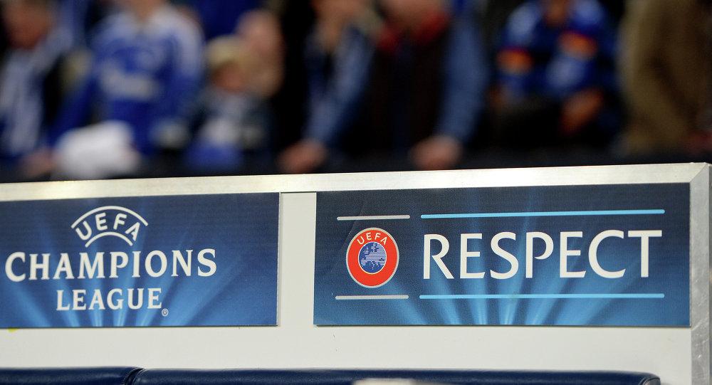 Una banderola  de la UEFA