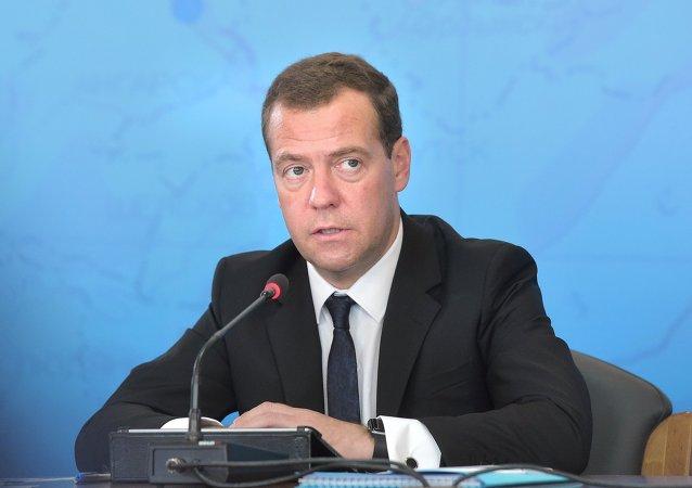 Dmitri Medvédev, el primer ministro de Rusia