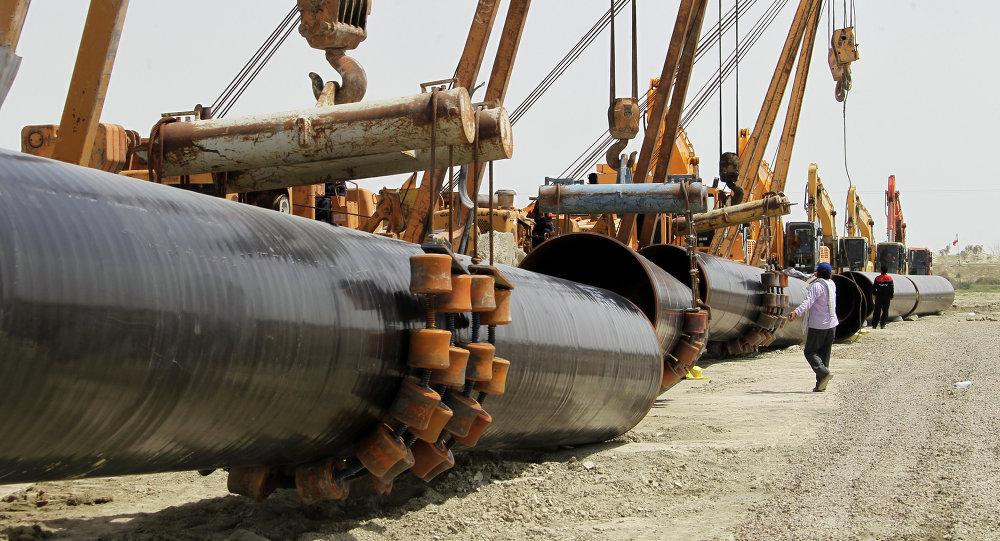 Construcción de gasoducto iraní