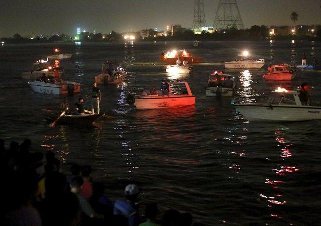 Naufragio de un ferry en el río Nilo