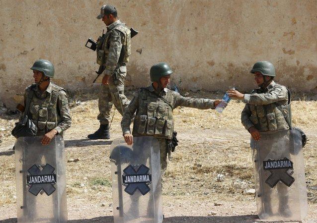 Frontera turco-siria en Suruc