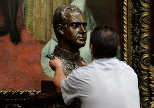Busto del rey Juan Carlos