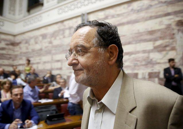Panagiotis Lafazanis, exministro de Energía de Grecia