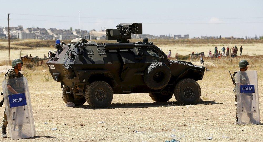 Soldados turcos en Suruc