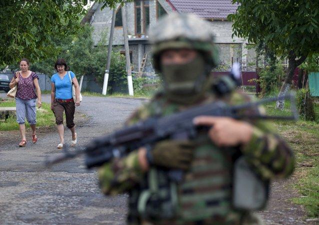 Militares ucranianos en Mukáchevo (Archivo)