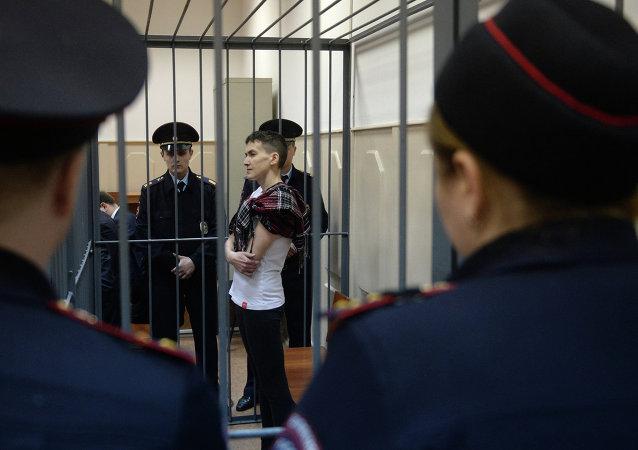 La piloto ucraniana Nadezhda Sávchenko