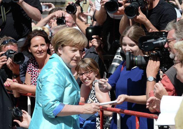 La canciller de Alemania, Angela Merkel en Bayreuth