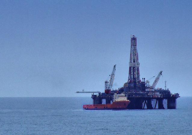 Platforma petrolífera en el Mar del Norte
