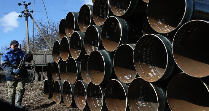 Construcción del gasoducto en Rusia