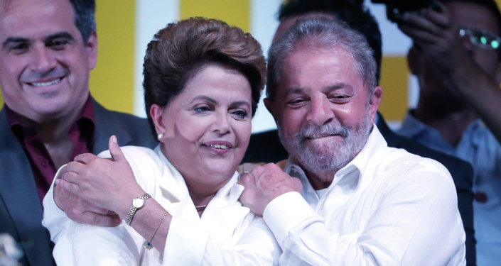 Los expresidentes de Brasil Dilma Rousseff y Luiz Inacio Lula da Silva