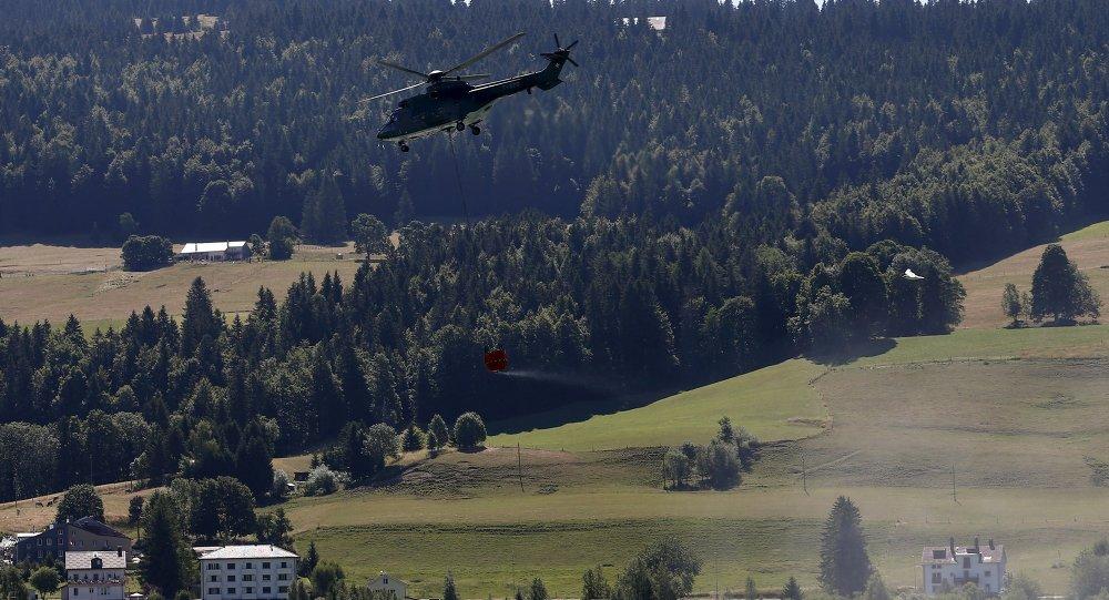 Helicóptero de la Fuerza Aérea Suiza Super Puma
