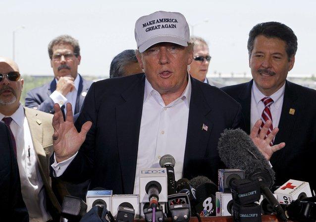 El precandidato presidencial estadounidense Donald Trump