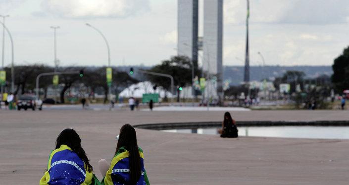 La protestación contra el sexismo y por los derechos de las mujeres en Brasil (archivo)