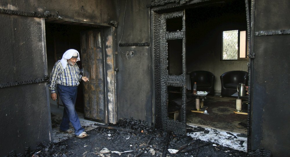 Casa en el pueblo de Duma después de un ataque