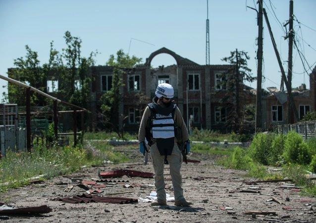 Observadore de la OSCE en Donetsk