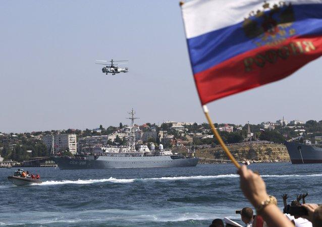 Celebración para el Día de las Tropas Aerotransportadas de Rusia en Sebastopol