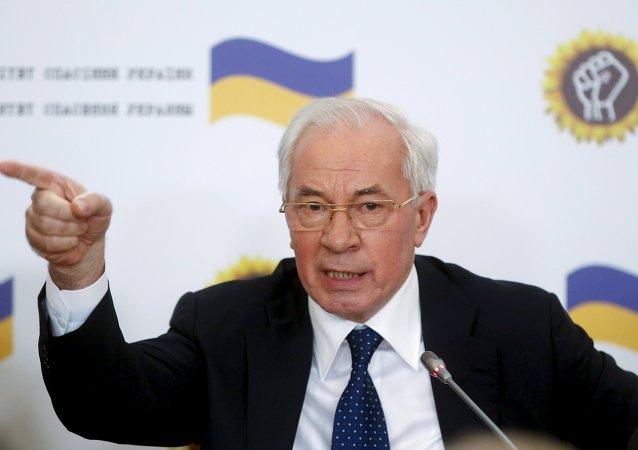 Nikolái Azárov, ex jefe de gobierno de Ucrania