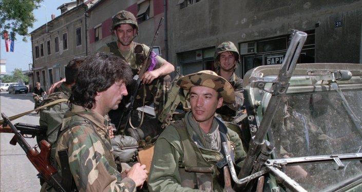 Militares croatas durante la Operación Tormenta