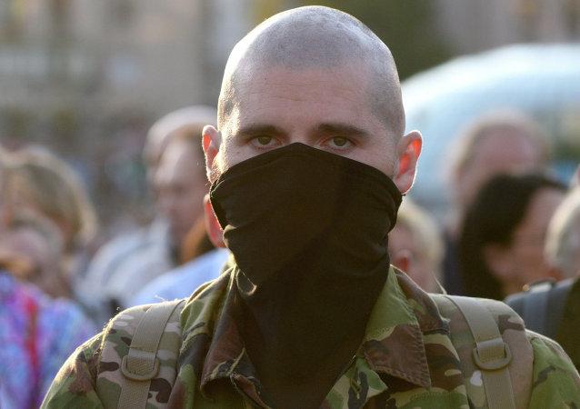 Partidario de organización extremista Pravy Sektor