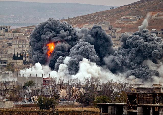 Ataques de la coalición liderada por EEUU en Siria (archivo)