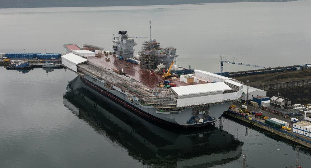 Portaaviones HMS Queen Elizabeth (archivo)