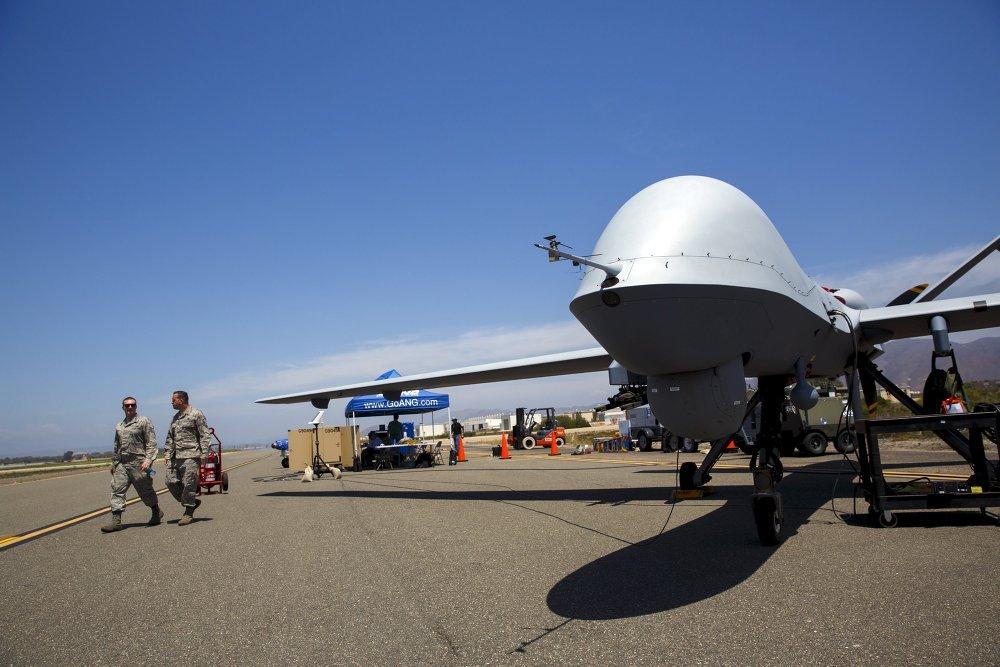 Ensayo de drones en una base naval de EEUU