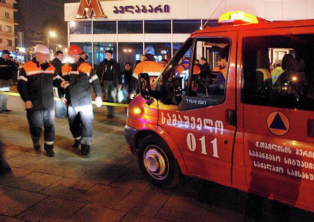 Пожар в тбилисском метро