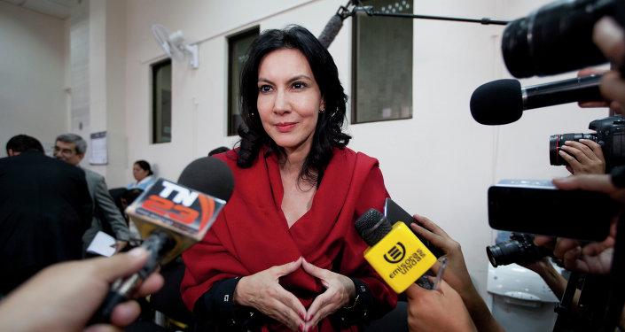 Zury Ríos, hija del exdictador guatemalteco Efraín Ríos Montt (archivo)