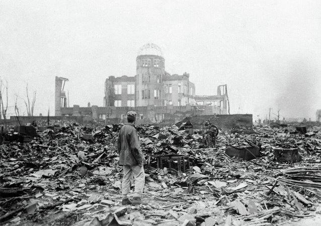 Hiroshima después de la explosión atómica (archivo del septiembre de 1945)