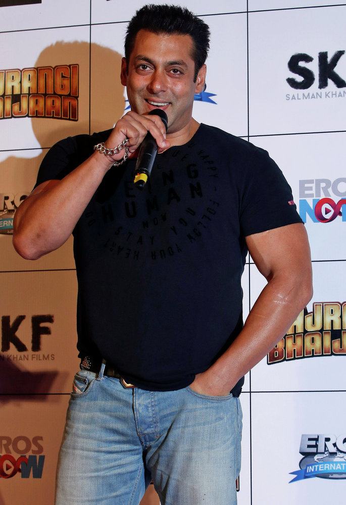 El actor  indio Salman Khan