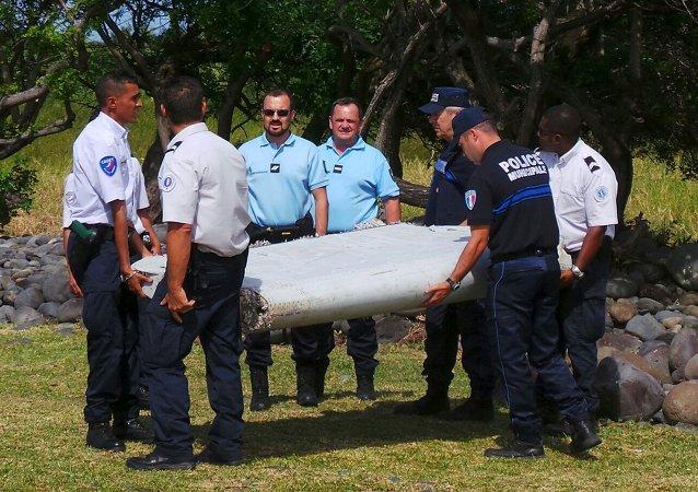 Pieza que pertenece al avión del vuelo MH370