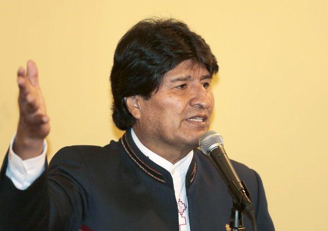 Evo Morales, presidente de Bolivia, el 5 de agosto, 2015