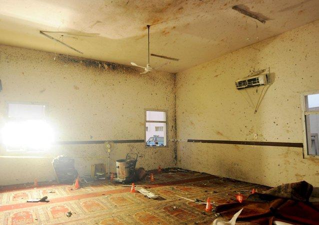 La mezquita de la ciudad de Abha después del ataque terrorista