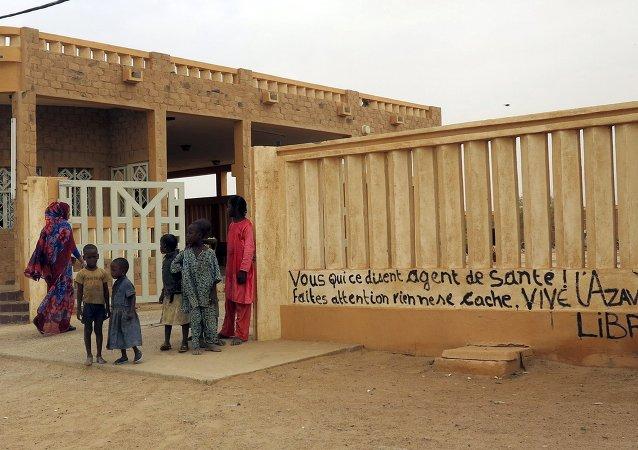 Clínica de salud en Kidal, Malí, el 23 de julio, 2015