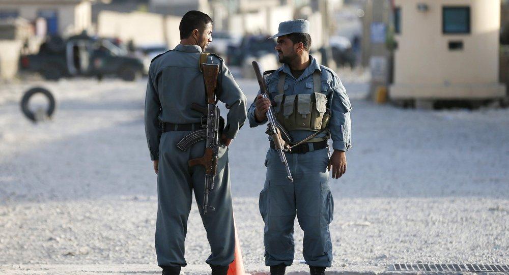 Los policías afganos