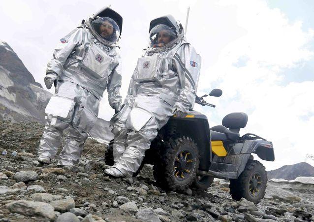 La imitación de una misión a Marte