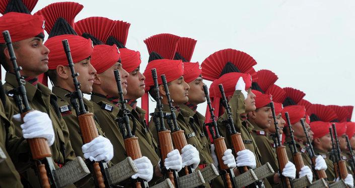 Oficiales del Ejército de la India (archivo)